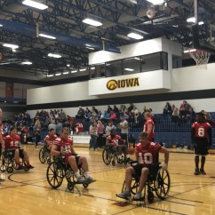 Wheelchair Drake High Chair Space Saver Grand View Athletes Use Basketball To Highlight A Good Cause