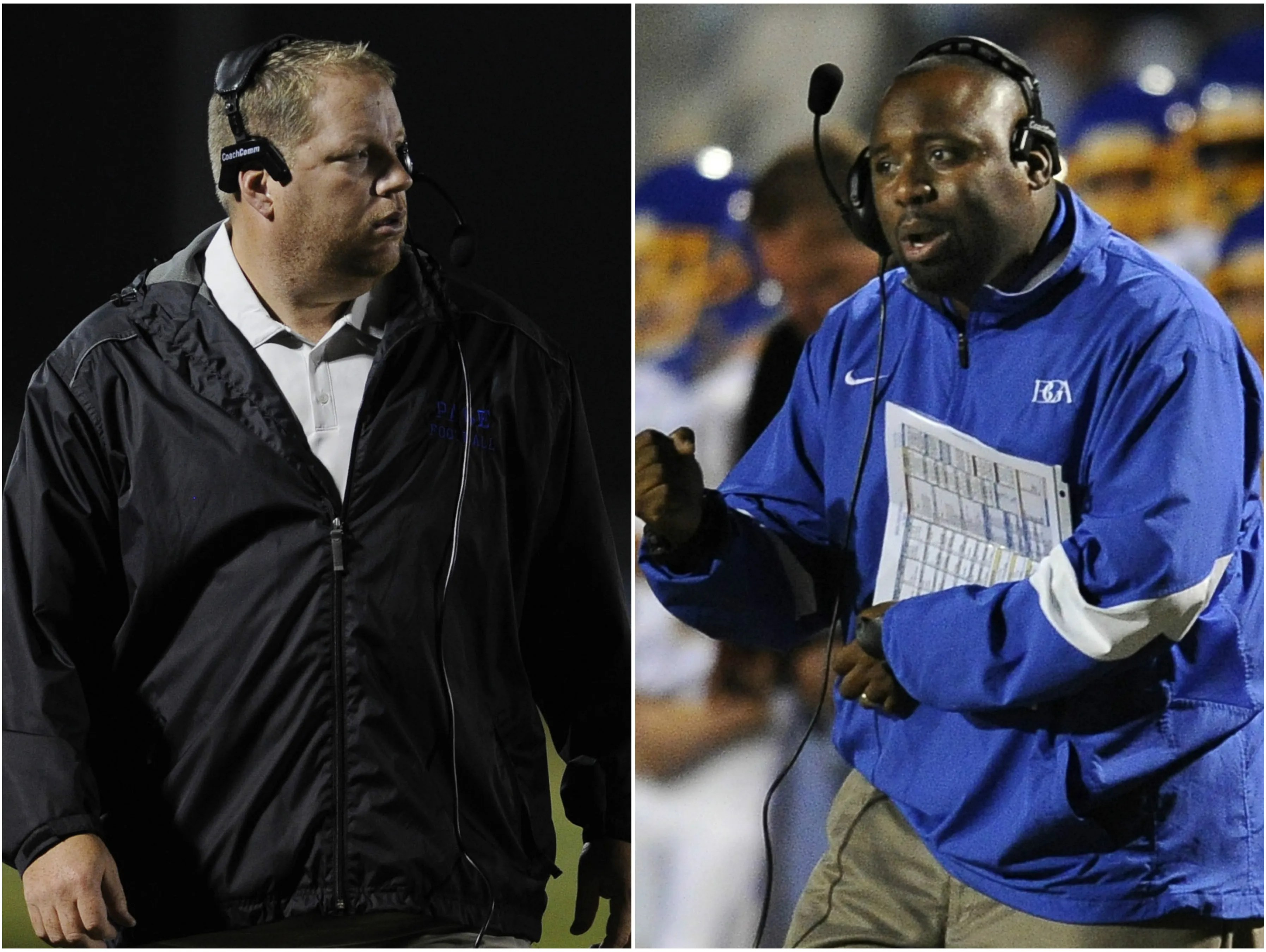 Page coach Charles Rathbone (left) and BGA coach Roc Batten (right)