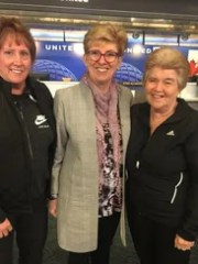 Jorja Doherty (L), Pat Geiger (R) and WFNHP president