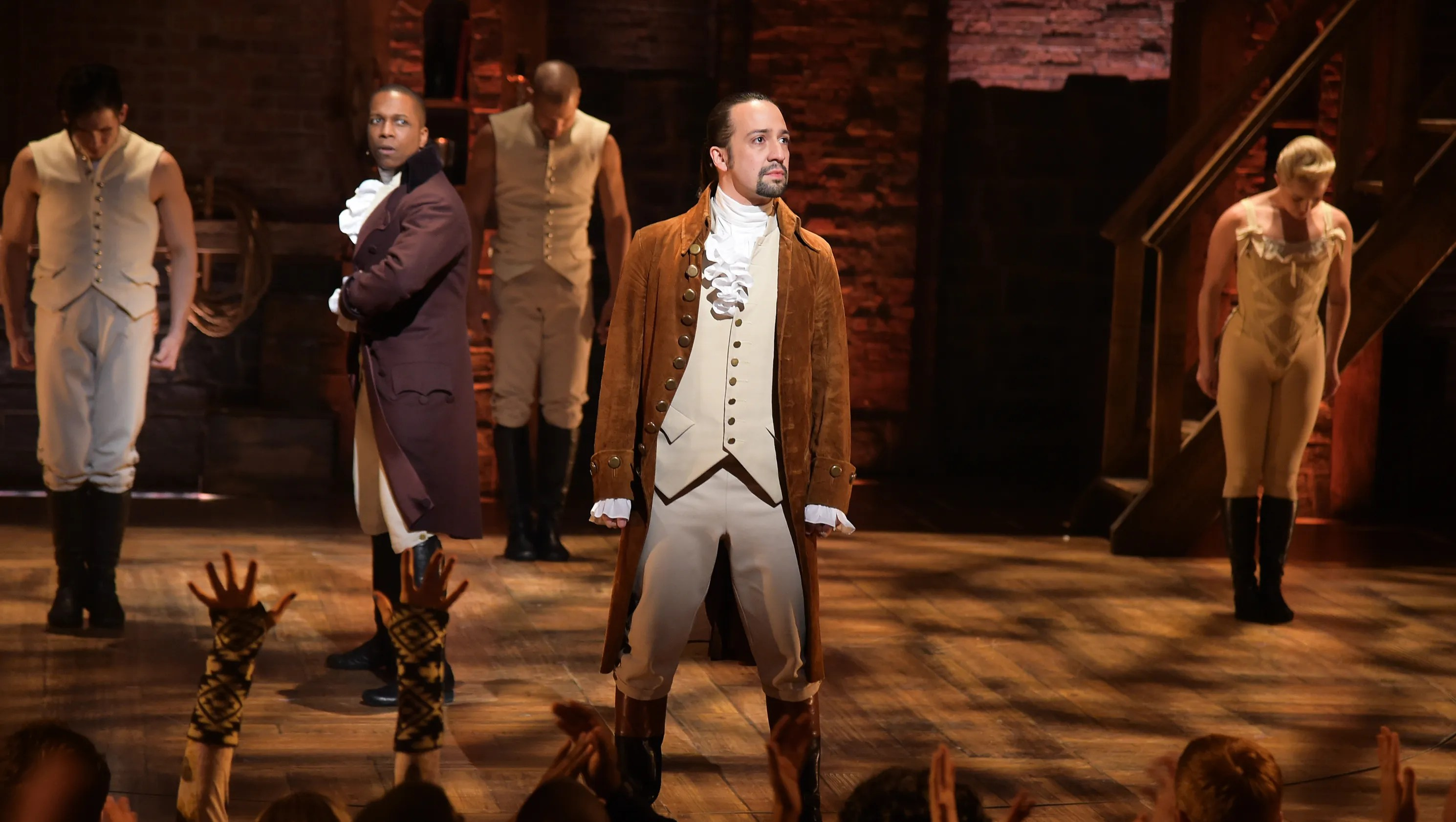 Image result for cartoon of donald trump and play hamilton