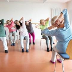 Chair Yoga For Seniors Dixie Company Health Wellness Support Is Good Option Teacher And Active Senior Women Class On Chairs