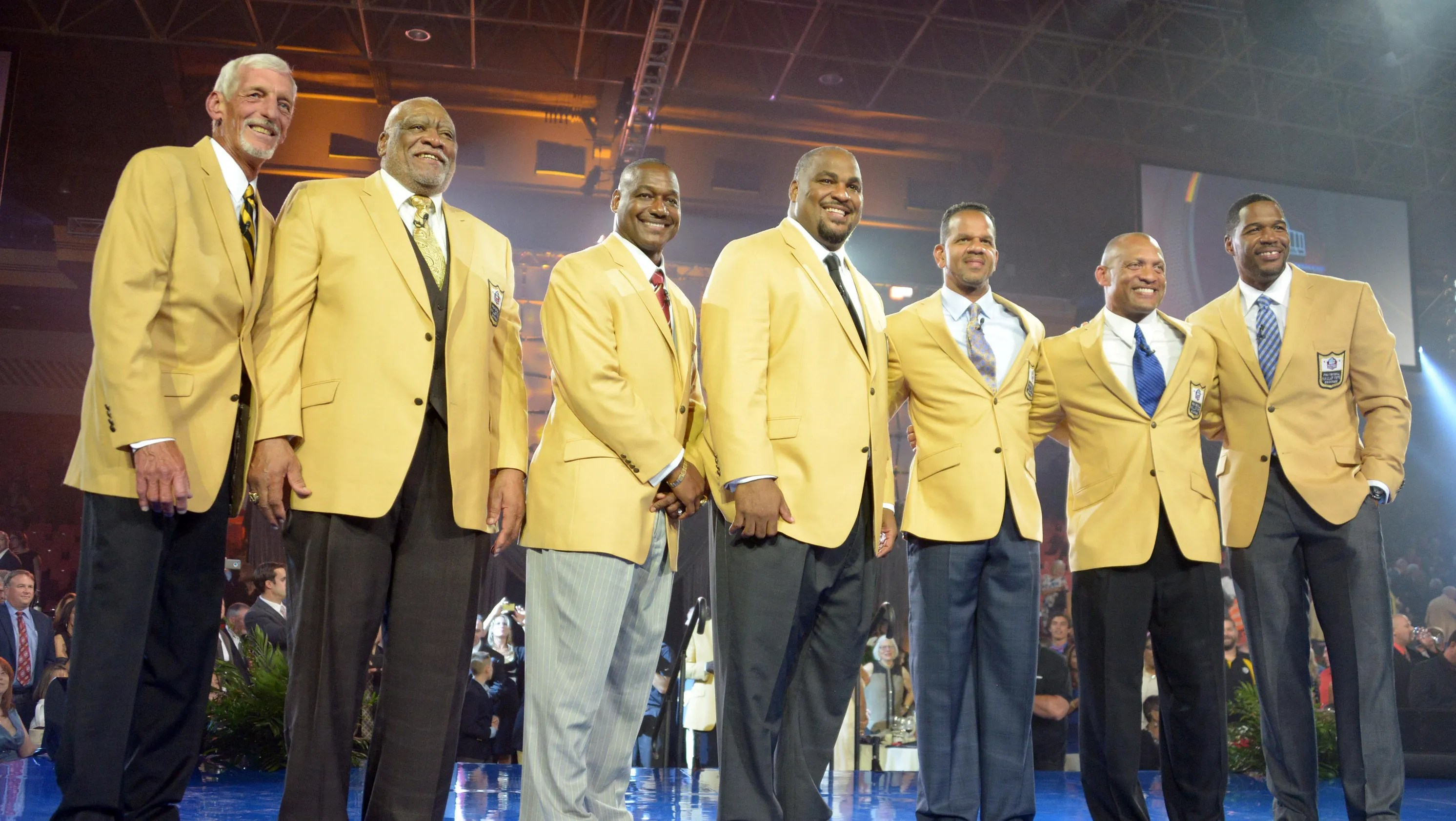 2014 Pro Football Hall of Fame gold jacket dinner