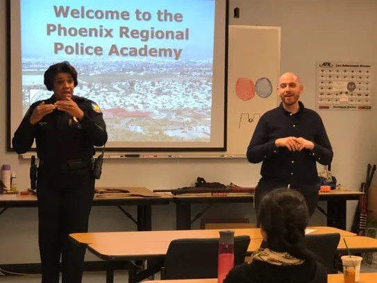Avoiding a deadly situation Phoenix police learn how to interact with deaf and hardof