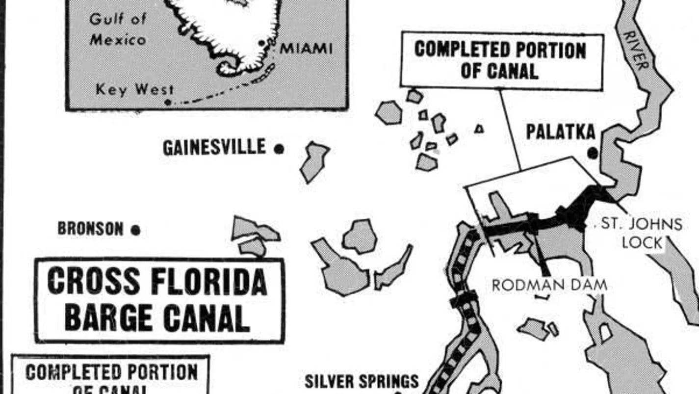 Cross Florida Canal idea lasted decades, finally failed