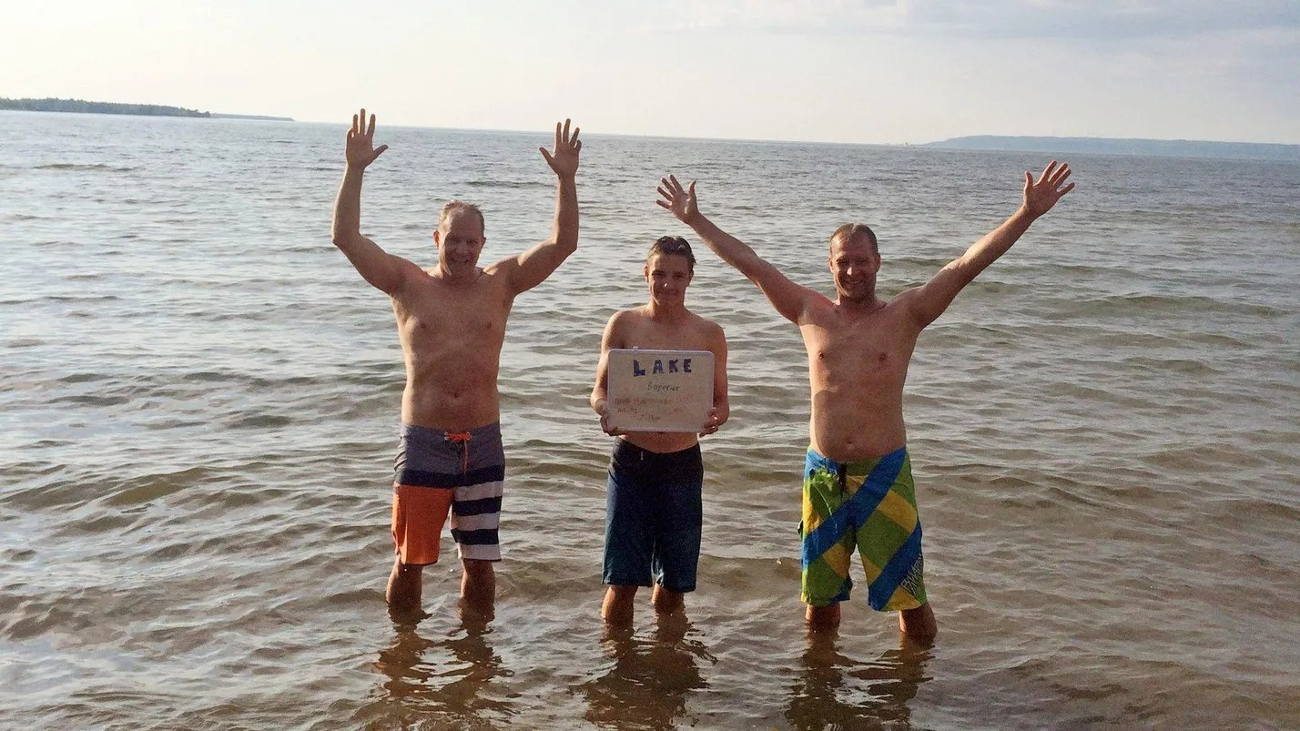 Canadian Trio Swim All 5 Great Lakes In Single Day