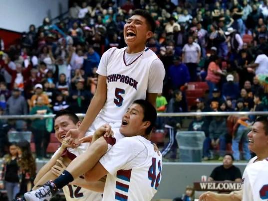 Shiprock Chieftains High School Boys Basketball Team 2013