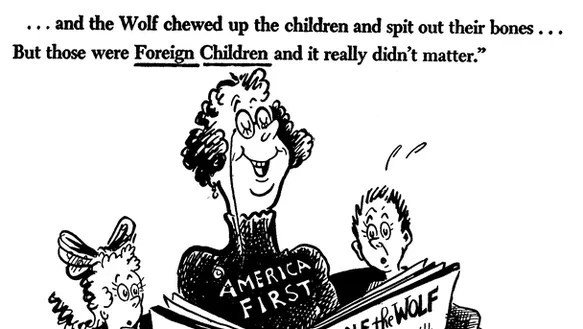 Dr. Seuss's political cartoons re-emerge amid criticism of