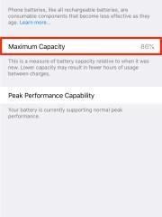iPhone 7 Plus battery health.