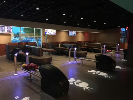 Bowlers are free to order food and drinks from the