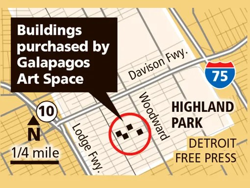 Location of Highland Park buildings purchased by Galapagos