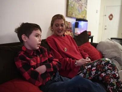 Joe Maldonado, 8, and his mother Kristie Maldonado,