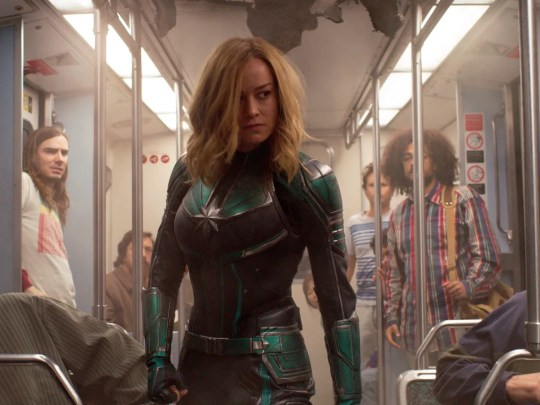 "Brie Larson goes looking for trouble in ""Captain Marvel."""