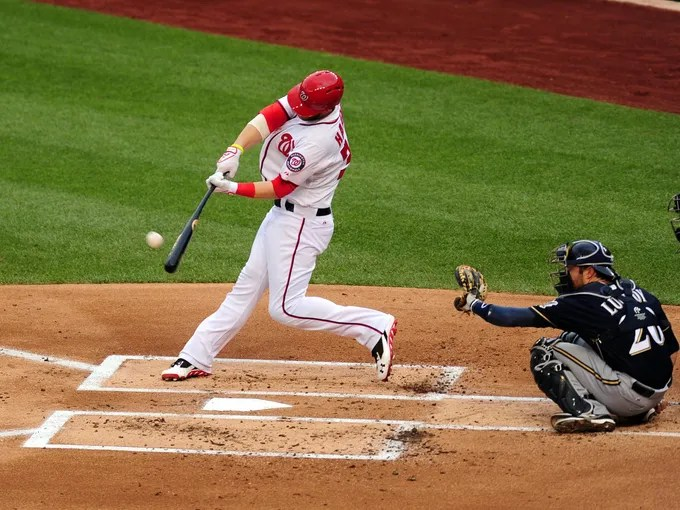 Bryce Harper, who was activated from the 15-day DL on July 1, hits a solo home run in the first inning against the Brewers.