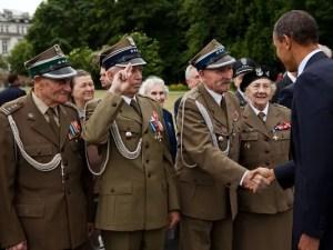 Polish veterans and Obama