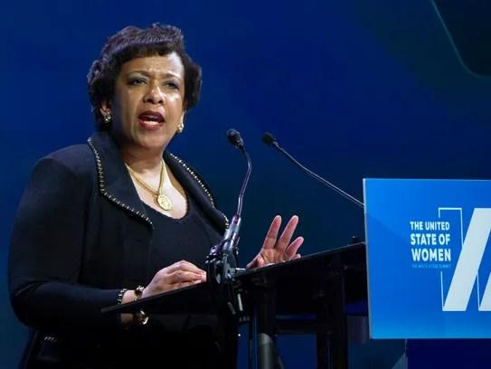Attorney General Loretta Lynch speaks in Washington
