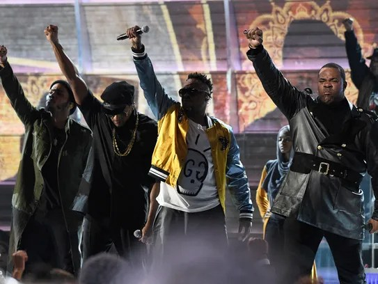 """""""Resist!"""" A Tribe Called Quest called as they wrapped"""