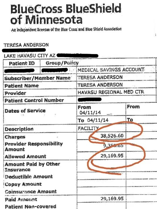 Woman's outpatient surgery bill an eye-popping $38,000