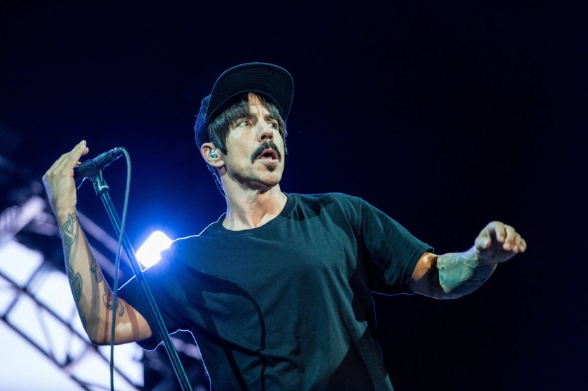 """Red Hot Chili Peppers singer Anthony Kiedis detailed his history of bad behavior in his 2005 autobiography """"Scar Tissue. Recounting one example of excess, he and guitaristHillel Slovak, a fellow heroin addict, were trying to steer clear of that drug while on tour.So instead theywould drink copious amounts of Jagermeister because it """"gave us the feeling closest"""" to that drug's high.The Jagermeister high was at least enough to prompt Kiedis to """"take off all my clothes in the motel and walk down the hall and knock on people's doors."""""""
