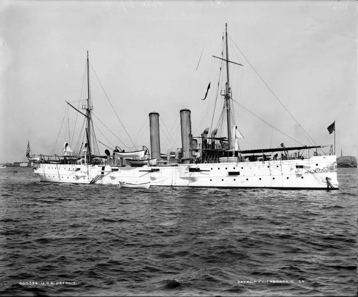 During the Spanish-American War, the third USS Detroit was part of a squadron that shelled Fort San Cristobal and Castillo San Felipe del Morrow in May 1898. Despite its success, the USS Detroit was a troubled vessel that served only 14 years. She was decommissioned in 1910.