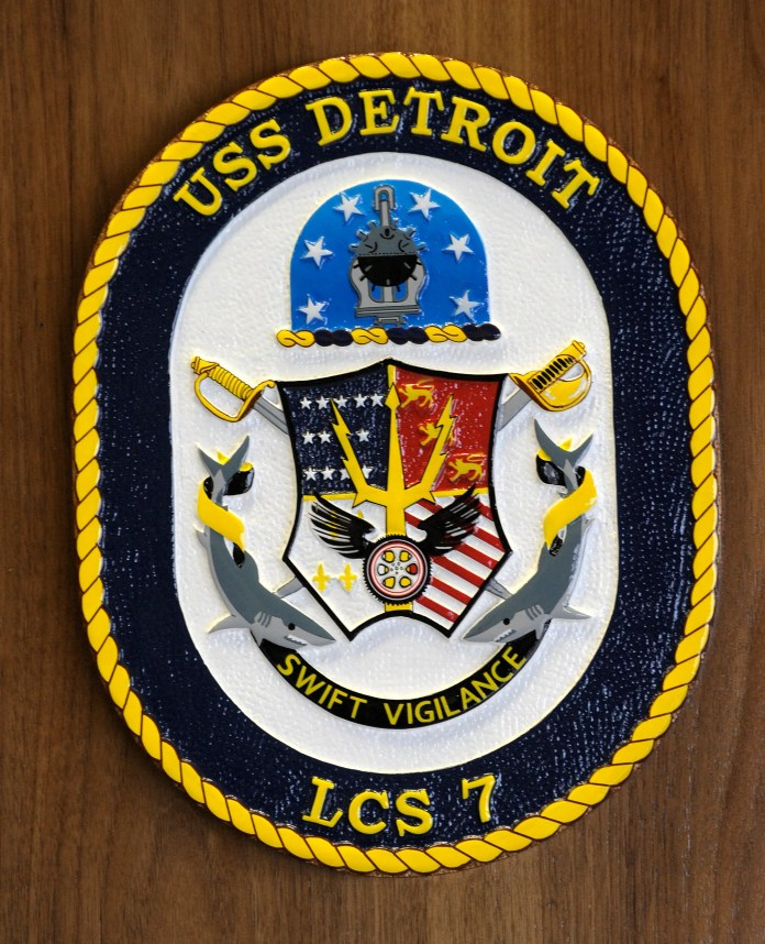 This is the crest of the USS Detroit.