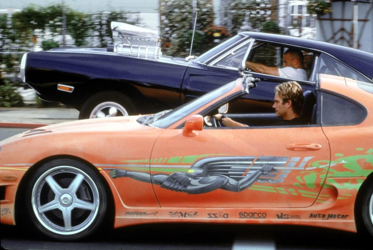 "Vrooooooooom! Paul Walker, foreground, and Vin Diesel in a scene from ""Fast & Furious."""