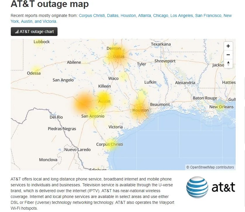 hight resolution of at t resolves loss of cellphone service problem was fiber issue in local network