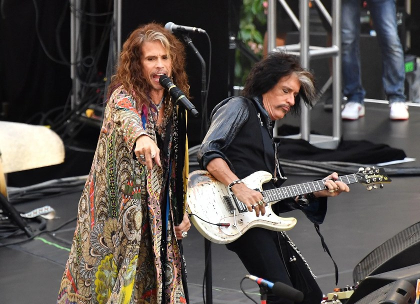 """The drug habits of Aerosmith singer Steven Tyler and guitarist Joe Perry were so legendary, they became known as the """"toxic twins."""" In Tyler's 2012 autobiography """"Does the Noise in My Head Bother You?"""" he recounted how Perry kept """"vials of coke with straws in them at the back of the stage, and when the lights would go out he'd go over there like he was checking something or making a guitar change and (a roadie) would put the straw in his nose; he'd take a hit, then the lights would come on again."""""""