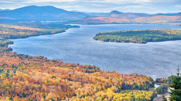 Rangeley, Maine • For a quiet getaway in the northern wilderness, head to Maine's Rangeley Lakes Region. There are 112 lakes and ponds in the area. Moose sightings are common in Rangeley, and brook trout draw fly fishers from all over New England. For those who prefer not to camp out, Rangeley Village offers inns, bed and breakfasts and rustic lodging, as well as shops and down-to-earth eateries. In addition to the peaceful waters, enjoy the backdrop of mountains.