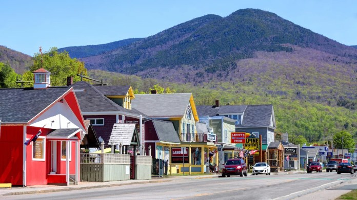 Lincoln, New Hampshire • Franconia Notch State Park is an outdoor destination that will keep you coming back for years. Drive the scenic parkway and stop at the Flume Gorge, a granite crevice full of waterfalls and glacial boulders, or canoe on Echo Lake. Take an aerial tramway ride to the top of Cannon Mountain, or gaze into the Basin.