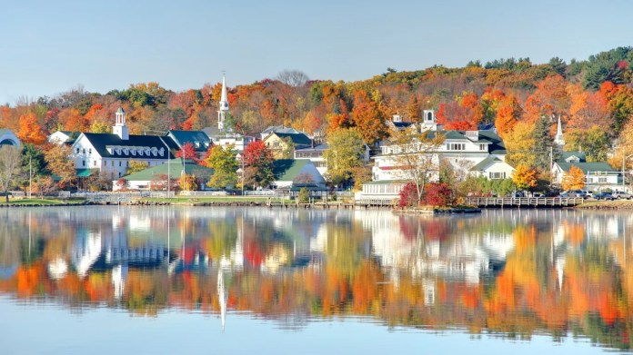 Meredith, New Hampshire • New Hampshire is known for its lakes, and Meredith is in the heart of the lakes region, on Lake Winnipesaukee. In addition to its gorgeous natural setting, Meredith boasts numerous historic sites, art and antique shops, and an array of dining options, from cheap eats to upscale restaurants. To really get a sense of the area, drive the length of the Lakes Region tour, route that brings you past many of the area's waterfronts, villages and mountains, with plenty of places to stop and picnic along the way.