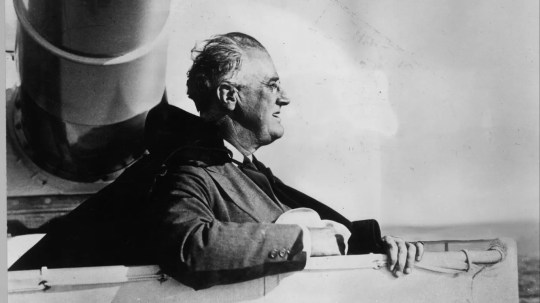 """3. Franklin D. Roosevelt     • DJIA performance:  +198.6%     • Served from:  March 4, 1933 - April 12, 1945     • Months in office:  145     • Party affiliation:  Democratic President Franklin Roosevelt served as president longer than anyone in history. Elected to office four times, Roosevelt sat in the Oval Office for 145 months and presided over some of the most tumultuous times in American -- and world -- history. Taking office during the height of the Great Depression, Roosevelt began implementing his """"New Deal"""" policies to turn the economy around. Unpopular with the business community, Roosevelt tightened finance regulation by creating the Federal Deposit Insurance Corporation and SEC as well as a pension system with the Social Security Act.  Despite dipping at the outset of America's entrance to WWII, the Dow shot up by nearly 200% under Roosevelt."""