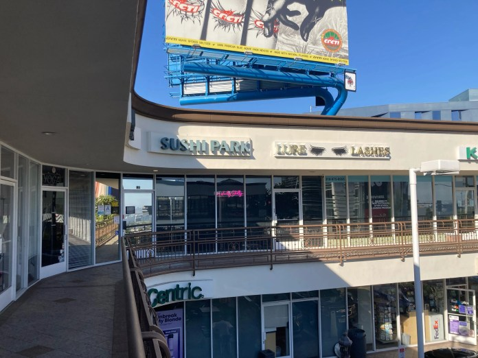 Sushi Park's tucked-away location in West Hollywood