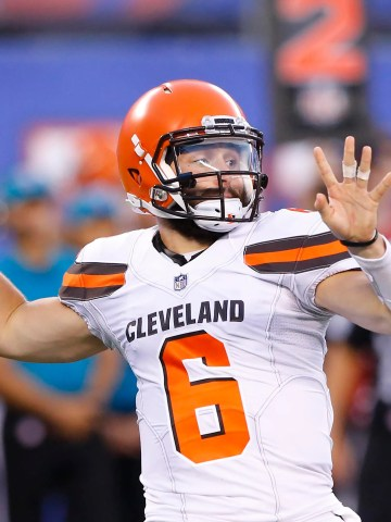 Baker Mayfield made his Browns debut in the preseason opener against the Giants.