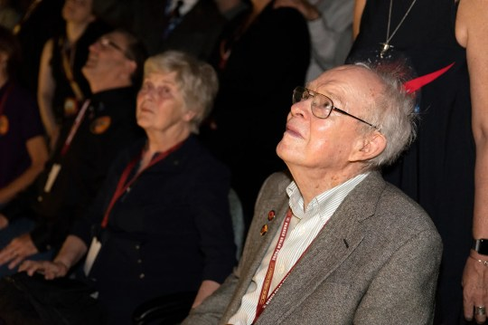 Eugene Parker, a pioneer in heliophysics and professor emeritus at the University of Chicago, watched the launch of NASA's Parker Solar Probe at 3:31 a.m. EDT on Sunday, Aug. 12, 2018.