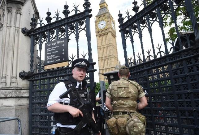 British police say car crash outside British Parliament was terror attack