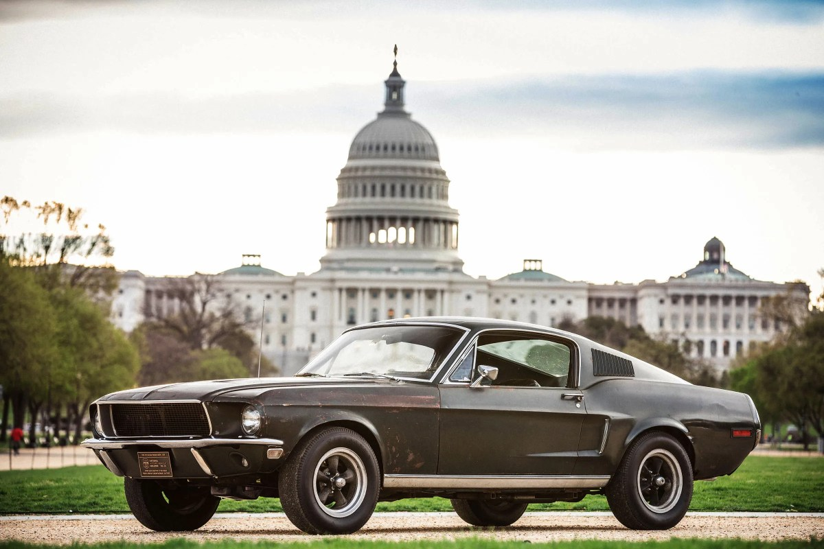 The 1968 Ford Mustang GT that became famous for the Warner Bros. cult movie