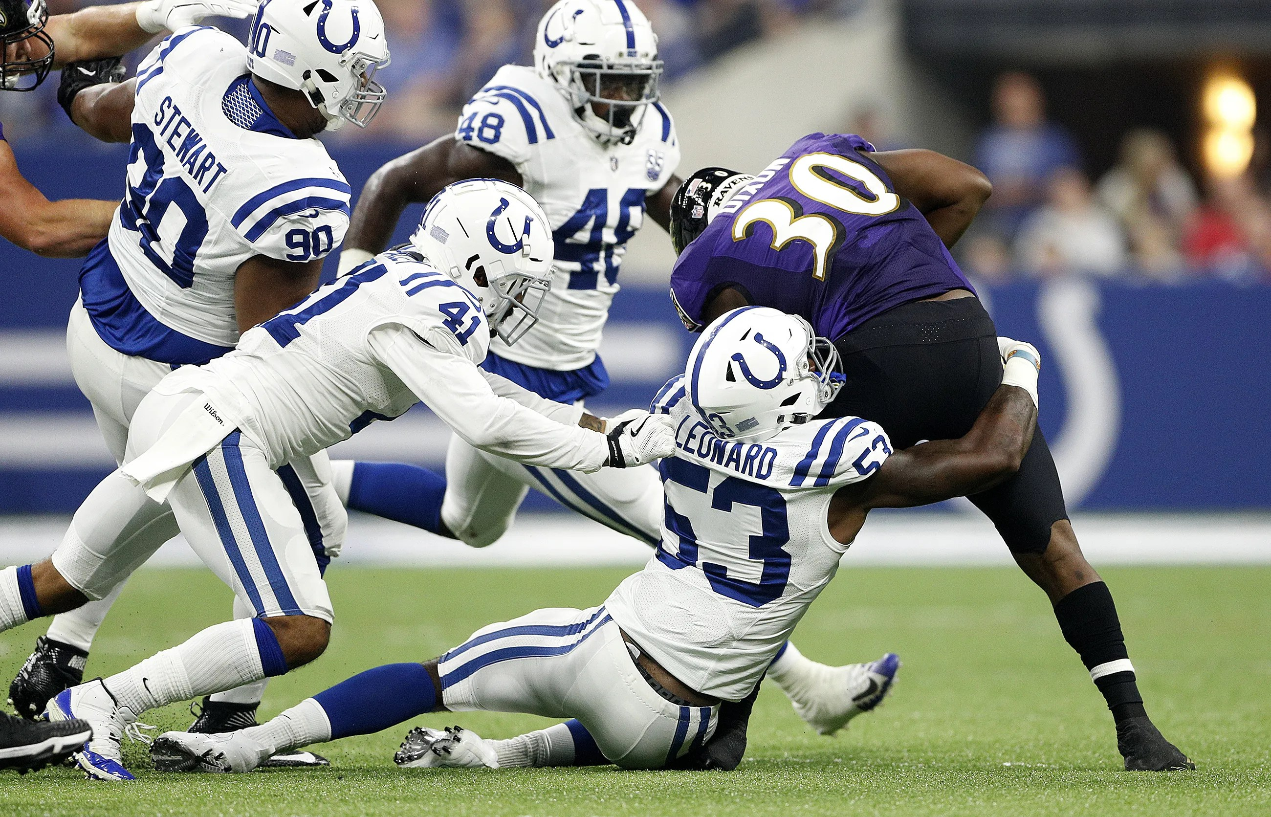 Rookie darius leonard cements starting role in colts  linebacker corps also indianapolis depth chart likely starter rh indystar