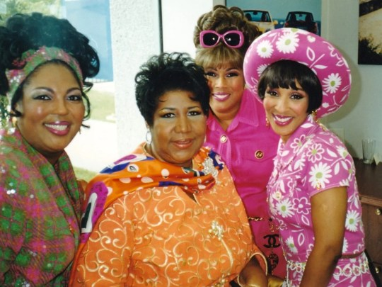 Aretha Franklin with gospel group the Ridgeway Sisters