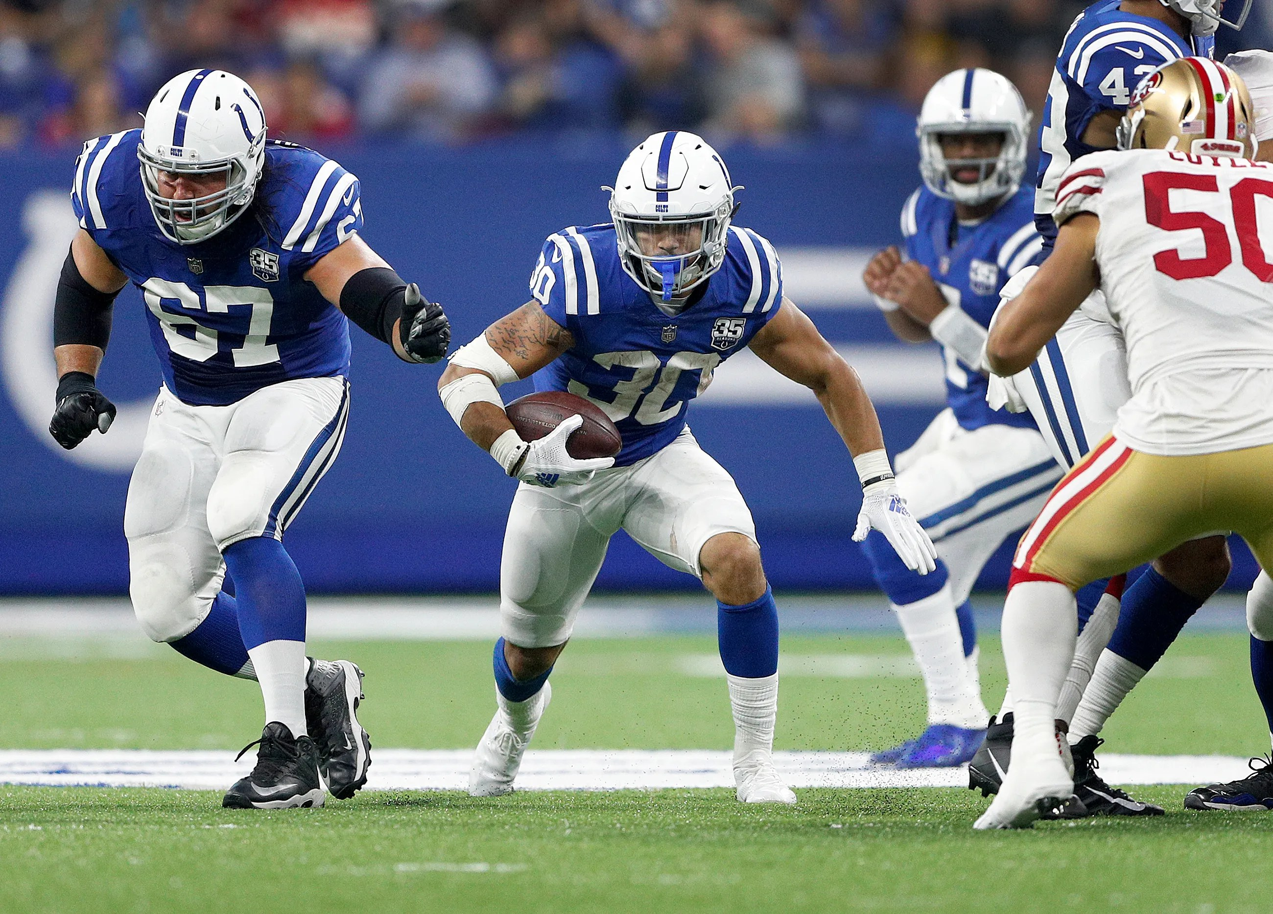 Running backs also colts depth chart analysis thin at wr lb rh indystar