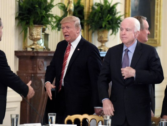Image result for McCain and Trump