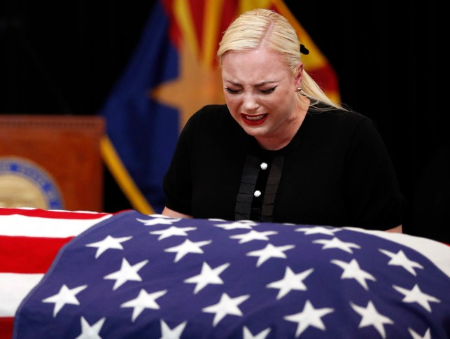 This photo of Meghan McCain weeping over her father's casket inspired thoughts of support, love