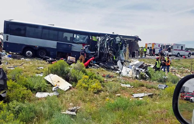 7 dead, dozens injured after Greyhound bus and truck collide in New Mexico
