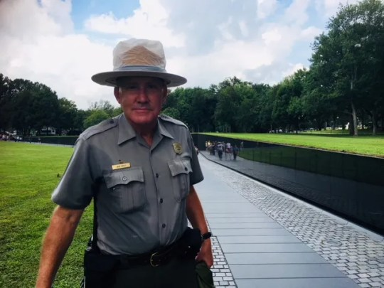 Bob Healy, a ranger with the National Park Service, says some recent visitors to the Vietnam Veterans Memorial said they came to honor the late Sen. John McCain, R-Ariz.
