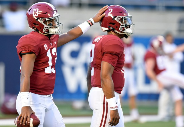 Tua Tagovailoa shines for Alabama as he gets call to start over Jalen Hurts