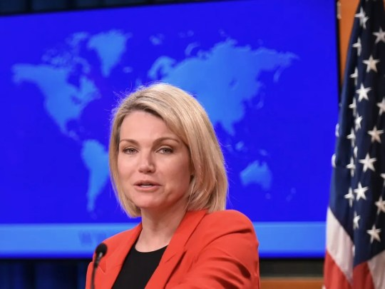 "In announcing its decision to nix funding for United Nations Refugee and Works Agency, State Department spokeswoman Heather Nauert said the U.S. could no longer ""shoulder the very disproportionate share of the burden of UNRWA's costs."""