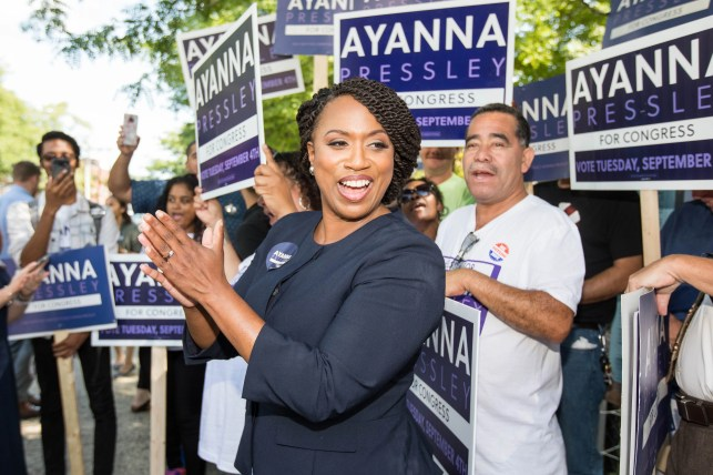 Democrat Ayanna Pressley closer to being first black woman elected to Congress from Mass.