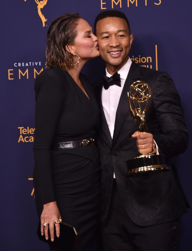 John Legend, Chrissy Teigen react to his status as first black man to achieve EGOT status