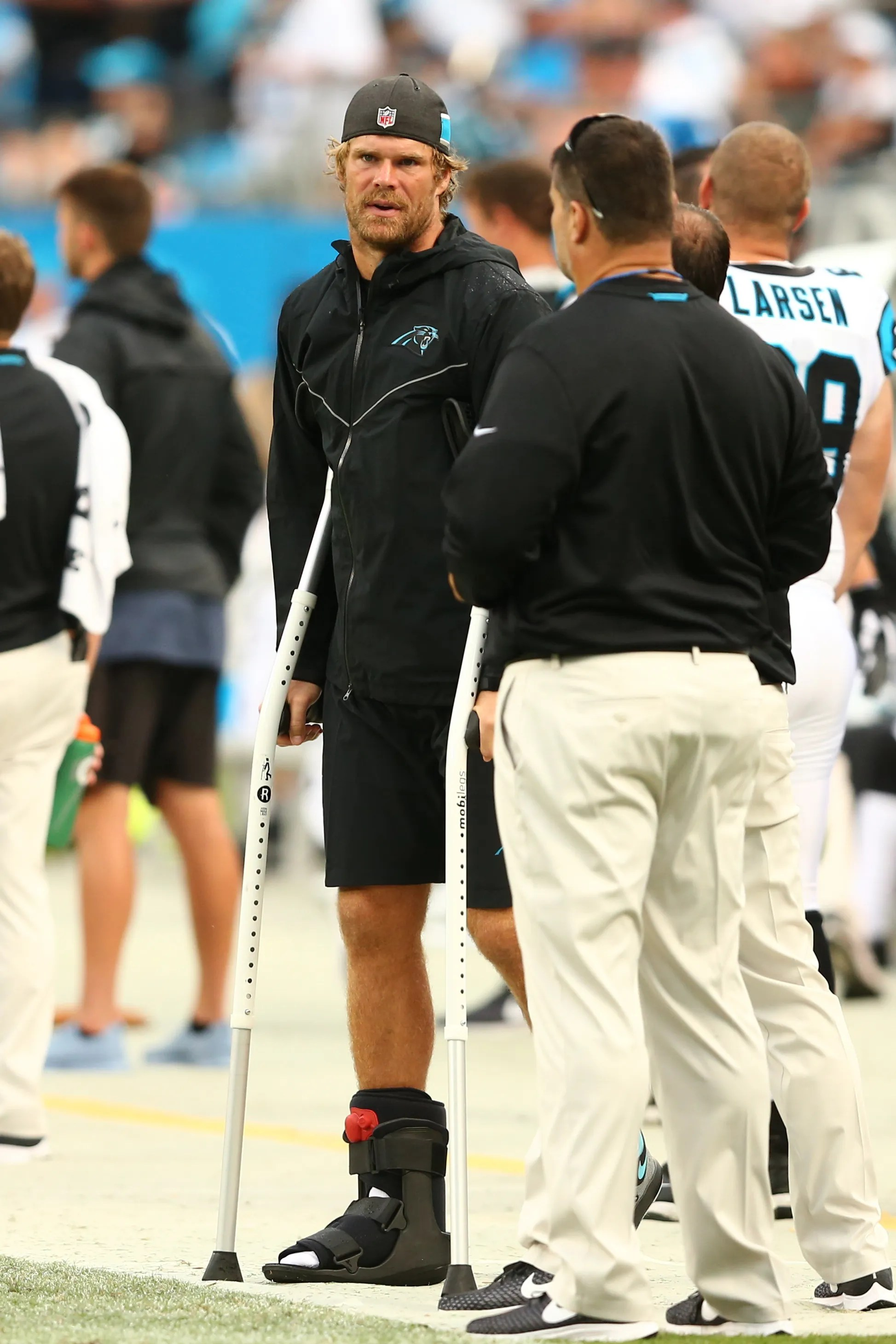 Panthers Greg Olsen out at least month after re
