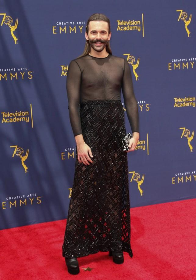 'Queer Eye' star Jonathan Van Ness slams 'transphobic' critics of his Emmys dress