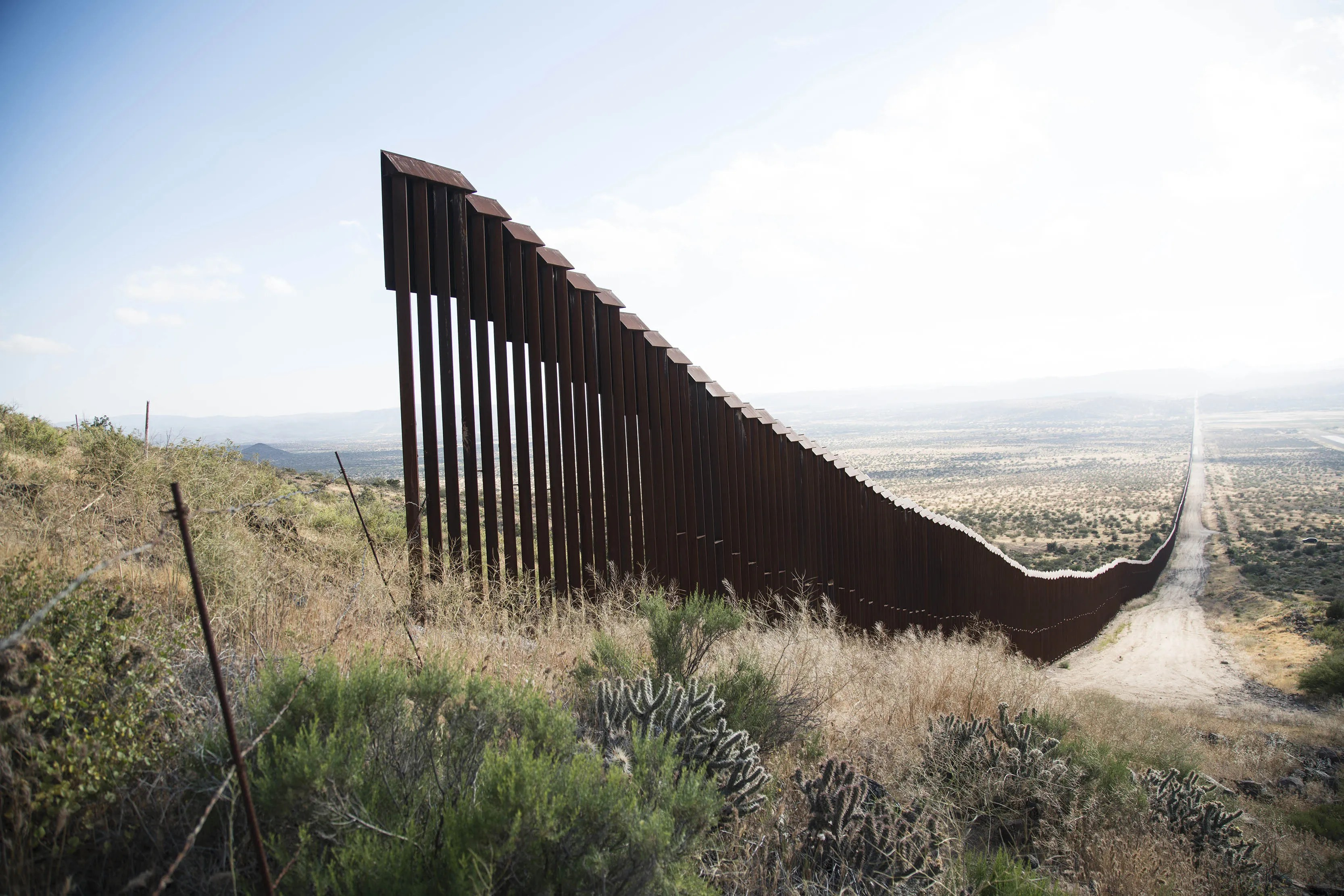 Immigration Trump' Wall Construction Texas